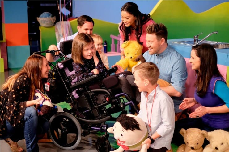 Keel, 13, diagnosed with Hemimegalencephaly wished to visit Playschool