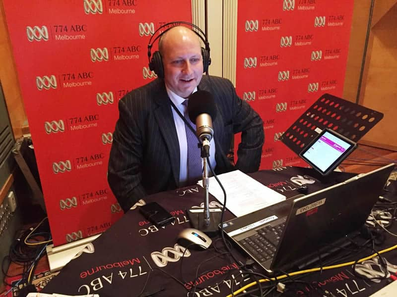 Quantum Business Finance Director David Gandolfo appearing on ABC radio