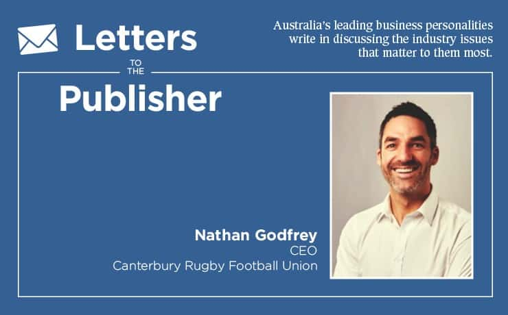 Canterbury Rugby League CEO Nathan Godfrey